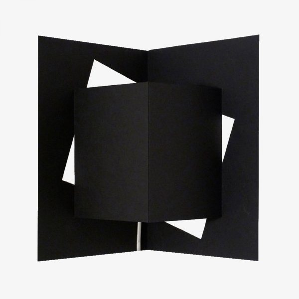 applique cube noir well well designer