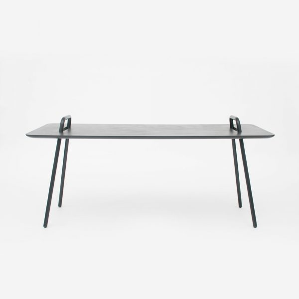 Mickael Dejean table Agrafe alchromat acier contemporain