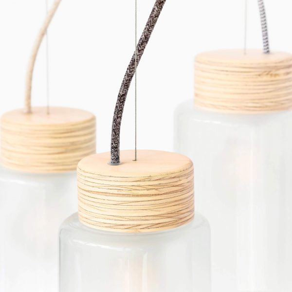 Studio Moeko Alt Wood luminaire suspension