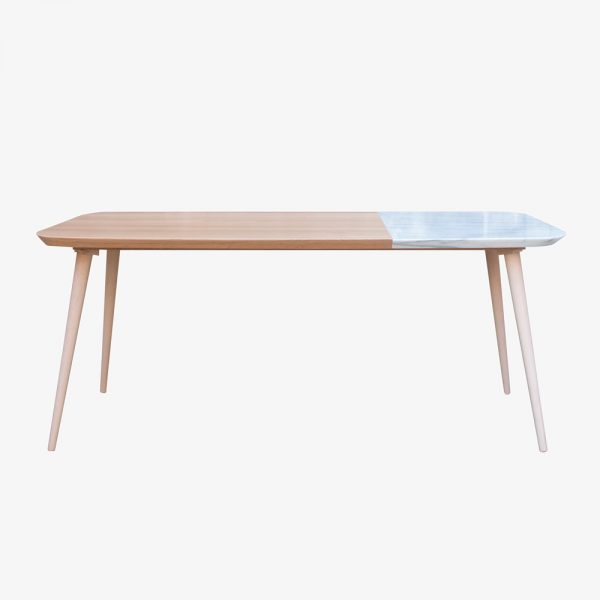 Space Factory Contraste table a manger hybride marbre chene