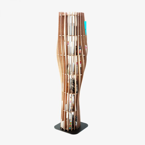 alexandre boucher design bibliotheque rouah sculpture frene chene bois contemporain