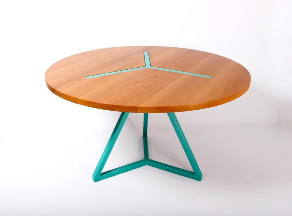 barnabe table ronde narya bois contemporain design