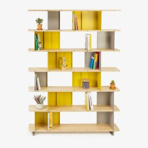 les optimistes editions bibliotheque rayonnante bois multiplis aluminium contemporain