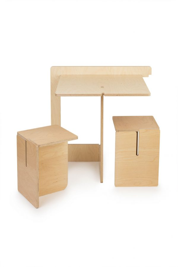 les optimistes editions table pliante pop up bois multiplis contemporain