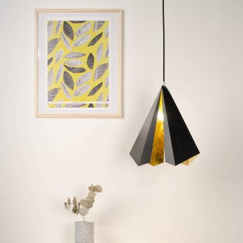 adam ruiz eglantine or luminaire suspension acier rouille or
