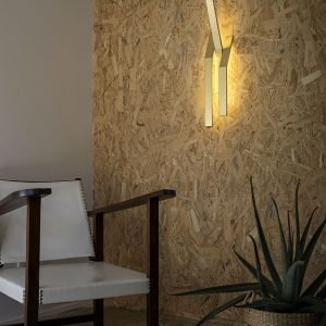 mona ronteix studio murmur applique luminaire contemporain or
